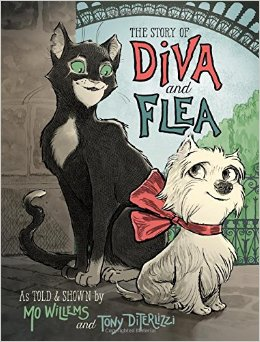 Diva and Flea Book Cover by Mo Wllems
